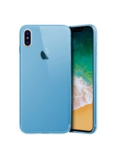 Microsonic iPhone X Kılıf Transparent Soft  Mavi